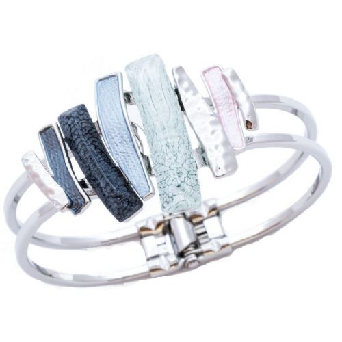 Miss Milly Pastel Mix Layered Resin Bracelet